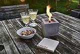 Beske feu en béton avec mèche continue | Taille 10x10x10| torches de jardin | temps de combustion Infinity par le recyclage respectueux de l'environnement de la cire de bougie