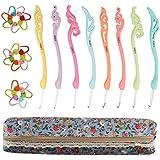 ccmart ergonómico juego, 8unidades, colores Kit de punto Agujas de tejer de ganchillo con funda con cremallera mejor regalo.