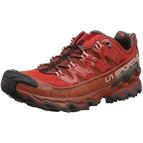 La Sportiva Ultra Raptor - Deportivos de running para hombre, color marrón / rojo, talla 43.5