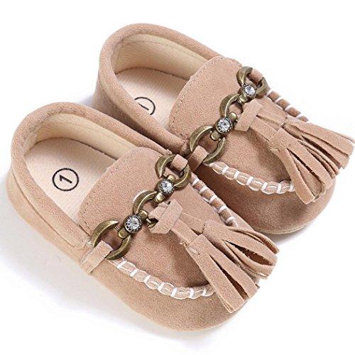 Hunpta Baby Kleinkind niedliche Krippe Schuhe auf Komfort schlüpfen Schuhe Loafers weichen Prewalker Anti Rutsch Schuhe 0-18 Monate (Alter: 0 ~ 6 Monate, Rot) Khaki