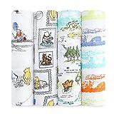 aden + anais Disney Baby Winnie Puuh, Pucktücher, Musselin aus 100% Baumwolle, 120cm X 120cm, 4er Pack