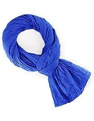 Chèche coton bleu roi uni