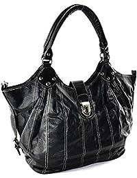 ZARLA New Womens Ladies Bolsa de hombro bolsos de trabajo – Grande Tote ...