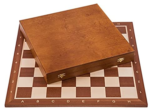 Pro Wooden Chess Set No. 6 - SQUARE - Mahogany LUX - Chessboard & Chess Pieces Staunton 6