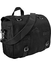Bolso bandolera grande bolsa de lona de algodón de colour negro