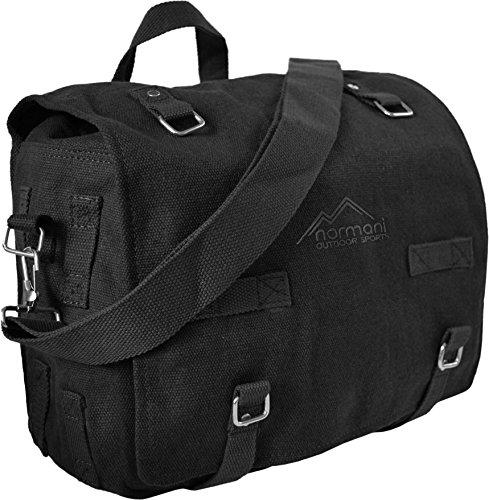 Kampftasche Umhängetasche groß Schwarz