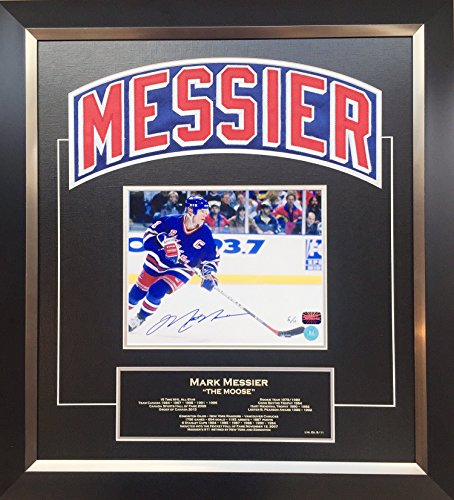 Generic Mark Messier Framed Namebar Signed, NY Rangers, Ltd Ed of 11 - Career Stats -