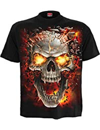 Spiral Men - Skull Blast - T-Shirt Black