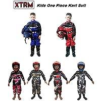 XTRM - Traje de Kart para niños – Junior Motocross Quad Dirt Bike MX Off Road Trials Go-Karting Enduro Niños ATV MTB BMX Mono Deportivo de Carreras de una Sola Pieza, Azul, X-Large : 8-9 Years