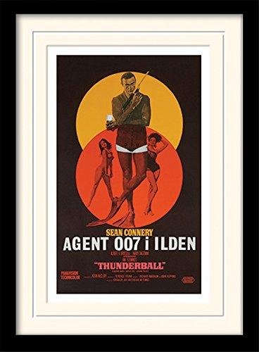 1art1 101632 James Bond 007 - Thunderball - Danish Gerahmtes Poster Für Fans Und Sammler 40 x 30 cm