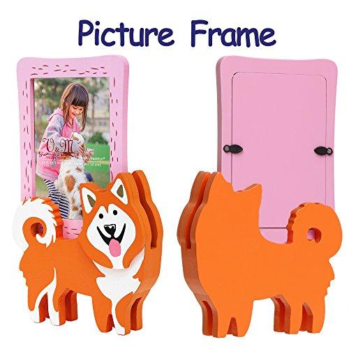 Valery Madelyn Oster dekoraton Haustier Bilderrahmen mit Hündchen stehen für Baby und Hunde, unvergessliche Andenken mit abnehmbaren Hündchenstand, 9x13cm Foto (Alaskan Malamute) (Malamute Hund Alaskan Macht)