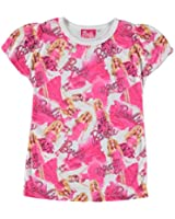 Infant Girls Printed Regular Fit Sub T Shirt Top