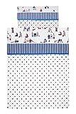 Vizaro - BETTWÄSCHE 2 Tlg. für Kinderbett 80-90x180-200cm - 100% Baumwolle - Hergestellt in der EU mit kontrolle gegen schädlichen substanzen - SICHERES PRODUKT - Strandhäuschen