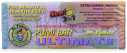 Mr. Pumice Pumi Bar Ultimate ( Coarse/Purple - Medium/Lavender ) 1 Pumice Bar by Mr. Pumice (Antibakterielle Moisturizing Lotion)
