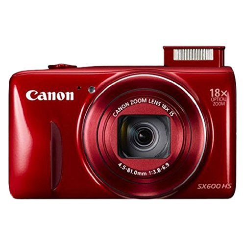 Canon Powershot SX600 HS 16 MP Point and Shoot Camera (Red)