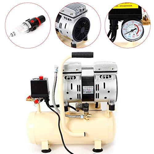 Z&Y Compresor aire 8L Silencioso Sin aceite Mantenimiento