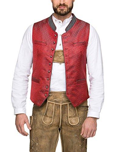 Stockerpoint Herren Trachtenweste Weste Arnie Rot (Rot Rot), Large (Herstellergröße: 50)