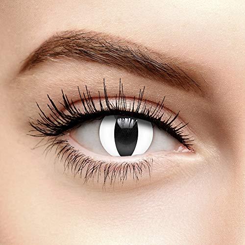 chromaview Schlangen Augen Farbige Kontaktlinsen Ohne Stärke Weiß (30 Tage)
