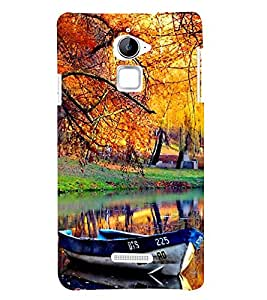 Fiobs Natural Scene Image Boat River Tree Designer Back Case Cover For Coolpad Note 3 Lite :: Coolpad Note 3 Lite Dual Sim