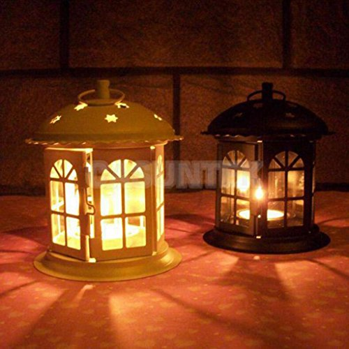 ELECTROPRIME® 2Pcs Star Moroccan Tea Light Candle Holder Lantern Garden Home Ornament Deco