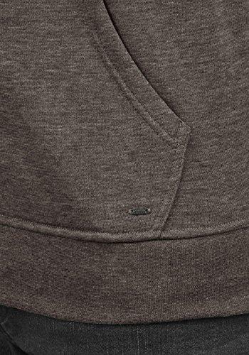 SOLID Olli Herren Sweatjacke Kapuzen-Jacke Zip-Hoodie aus hochwertiger Baumwollmischung, Größe:M, Farbe:Coffee Bean Melange (8973) - 5