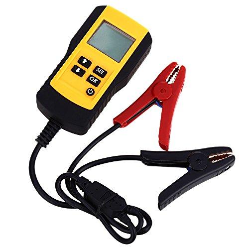 Wisamic Digital 12V Auto Batterietester KFZ Batterie Status Analysator CCA 5-9555 Kaltstartverstärker mit LCD Display