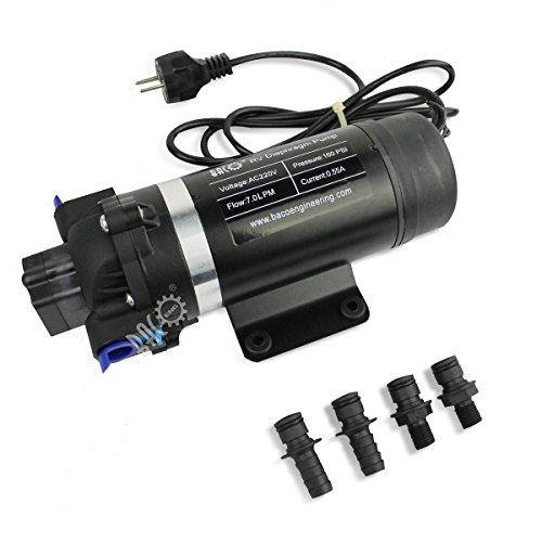 BACOENG AC220V Selbstansaugende Druckwasserpumpe Trinkwasserpumpe 7 Ltr./Min 160 PSI