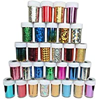 Frcolor Starry Sky Stars Nail Stickers Tips Wraps Foil Transfer Sticker Glitters Kit de decoración para manicura (24PCS)