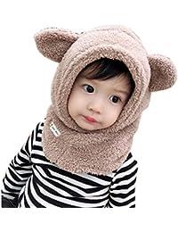 Tukistore Cagoule Calotte Automne Hiver Bonnet Cache Cou Enfant Cagoule Bébé  Garçon Fille Cache Oreilles Capuche 1ca7b6703c4