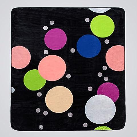 San Carlos Mojave - Manta terciopelo, cama matrimonio 135 x 150 cm, color negro