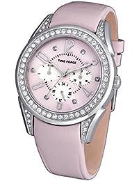 TIME FORCE Reloj Analógico para Mujer de Cuarzo con Correa en Cuero  TF3375L06 3ebd55be9c58