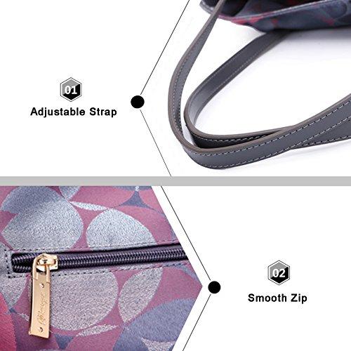 Sacchetti di tela di canapa di Yoome Sacchetti eleganti di grande capacità per le donne sacchetti di modo per le ragazze Satchel - Rosso Rosso