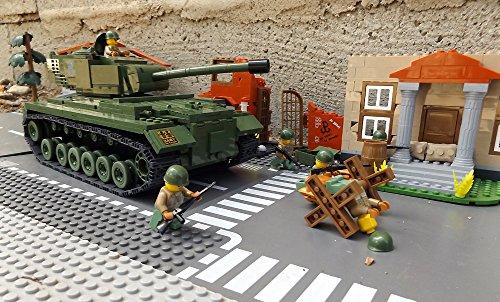 ★ World of Tanks 3008 – Bausteine US ARMY Panzer, 525 Teile, schwerer Kampfpanzer M46 PATTON, inkl. custom US ARMY Soldaten aus original Lego© Teilen ★ - 3