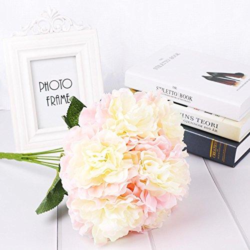 Soledì 9 teste fiori artificiali peonia decorazione per matrimonio casa giardino bar