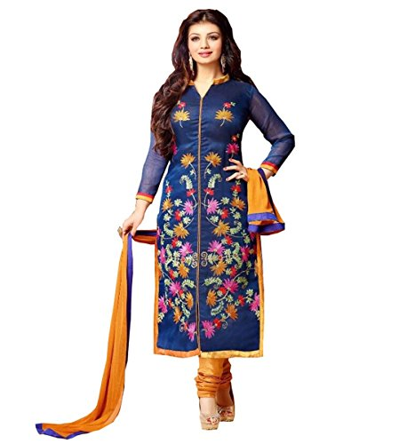 Muta Fashions Navy Blue Printed Fashionable Girl's Salwar Suit Sets...