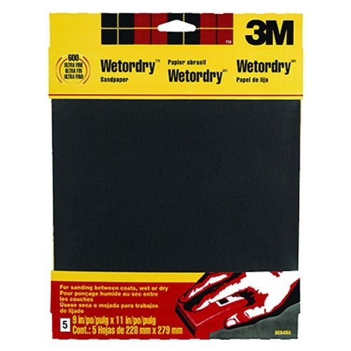 3M Wetordry Sandpaper, 9-Inch by 11-Inch, Assorted Grit, 5-Sheet by - Schleifpapier Wetordry 3m