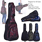 "Docooler 42"" Acoustic Folk Classical Guitar Bag Case Backpack Adjustable Shoulder Strap 600D Cloth Multiple Pocket Camouflage Blue"