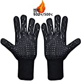 MojiDecor Grilling Gloves - Heat Resistant up to 500 ° C, 1 pair