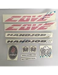 Cove Handjob XC Replacement Frame Decal Kit Sticker Pink Pre 2010