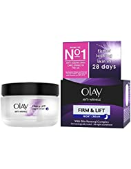 Olay Anti-Wrinkle Firm and Lift Anti-Ageing Moisturiser Night Cream, 50 ml