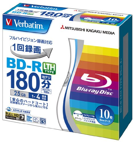 verbatim-mitsubishi-25gb-4x-speed-bd-r-blu-ray-lth-type-recordable-disk-10-pack-ink-jet-printable