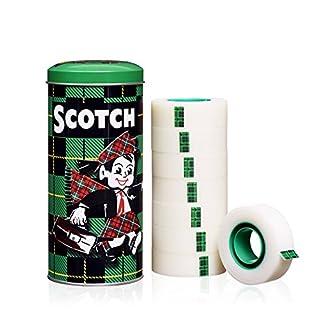 Scotch 8-193332 Klebeband Magic Promotion (19 mm x 33 m, in Metallbox) 8 Rollen matt und unsichtbar