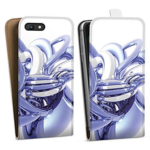 Apple iPhone X Silikon Hülle Case Schutzhülle Knoten Chrom Eis Downflip Tasche weiß
