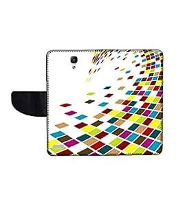 KolorEdge Printed Flip Cover For Redmi Xiaomi Note Multicolor -(55KeMLogo12179XiaomiNote )