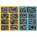 Knobelspiele Capalta Blume 16 Stück Metall Knobelei IQ-Spiele Set IQ Test 3D Brainteaser Puzzle Metallpuzzle Geschenke für Kinder Teenager & Erwachsene Weihnachten Geschenk