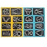 Knobelspiele Capalta Blume 16 Stück Metall Knobelei IQ-Spiele Set IQ Test 3D Brainteaser Puzzle Metallpuzzle Geschenke für Kinder Teenager & Erwachsene Weihnachten Geschenk -