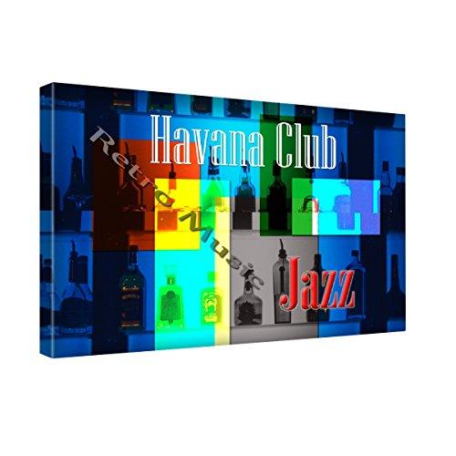 """Preisvergleich Produktbild Weinlese Postkarten VP005, Havana Retro Club, Kunstdrucke Leinwandbild Bild Malerei Wandbilder Canvas. Größe 16X20"""""""
