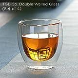 TGL Co. Luxury Teas Glass (Doublewalled Borosilicate Glass, Insulated Tea Cup, 150ml (Set Of 4)