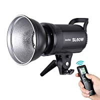 ‏‪Andoer Godox SL-60W 5600K 60W High Power LED Video Light Wireless Remote Control with Bowens Mount for Photo Studio Photography Video Recording White Version‬‏