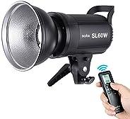 أندور غودوكس SL-60W 5600K 60W ضوء فيديو LED عالي الطاقة جهاز تحكم عن بعد لاسلكي مع قاعدة تثبيت لالتقاط الفيديو